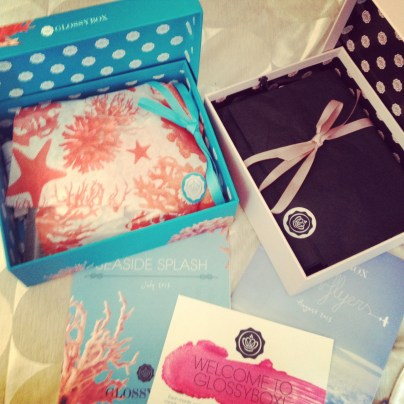 Seaside Splash and High Flyers Glossybox Review