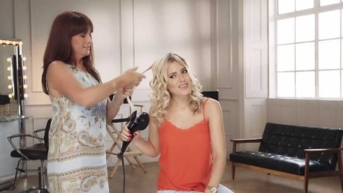 Mollie King with the Babyliss Curl Secret