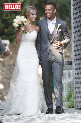 Theo Wallcott and Melanie Slade Wedding