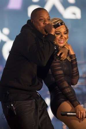 Jay-Z makes a special appearance for Beyonce at the Chime for Change concert