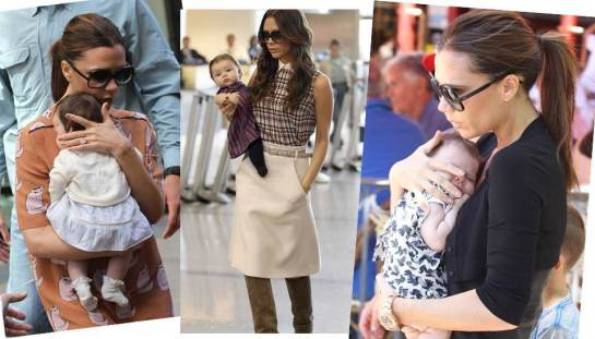Haper Beckham with stylish Mummy, Victoria Beckham