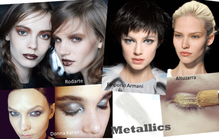 Autumn Winter Beauty Trends Round Up ♥ Metallics