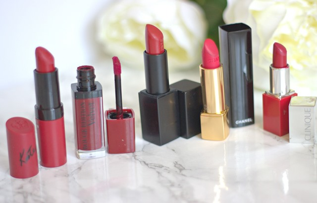 My Top Five Red Lipsticks ♥