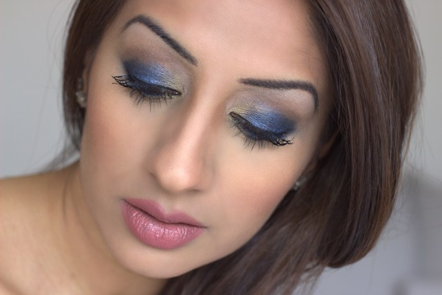 Bronzed Blue and Gold Makeup Tutorial