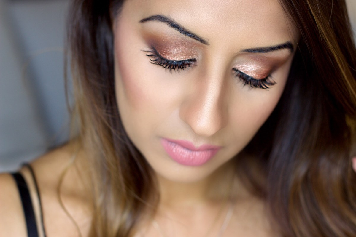 My Rose Gold Glitter Makeup Tutorial ♥
