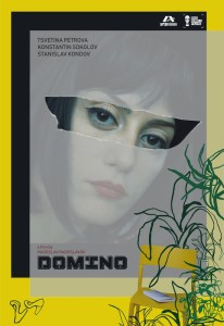 Domino Poster: with a woman's face.