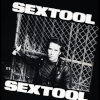 poster image from the film SEX TOOL showing Fred Halsted in a black leather jacket leaning against a chain-link fence.