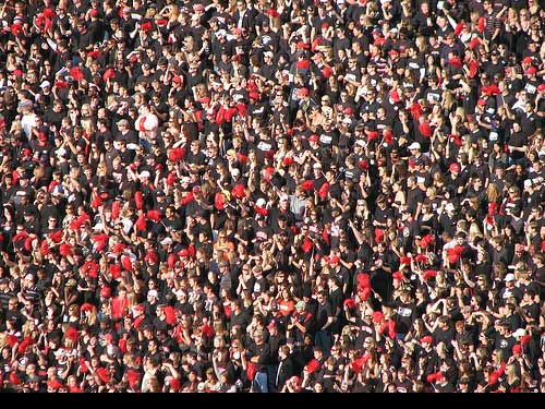 Georgia Bulldogs student section blackout at home football game