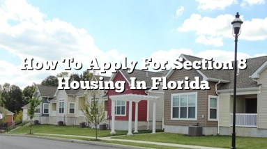 How To Apply For Section 8 Housing In Florida