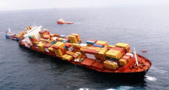 maritime-research - MV Rena Accident Sector Maritime - Number of Containers Lost at Sea Falling 2008 to 2016
