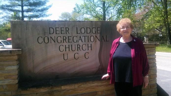 Rev. Rose Hermonat at Deer Lodge Congregational Church