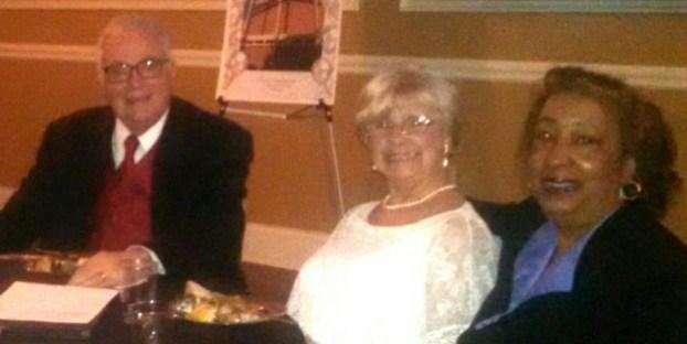 Rev. Dave Brown, Barbara Brown, and Vanessa Robb at Pilgrim's 100th Anniversary Dinner