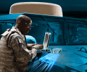 Network Encryption Warfighter with Laptop