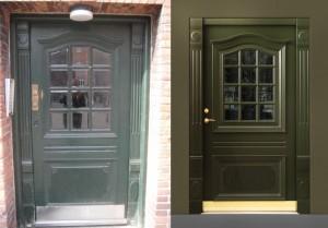 security replica door green