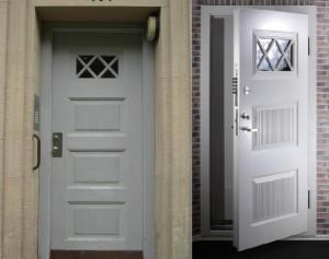 security steel doorWhite door