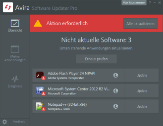 Avira_Software Updater Pro_Veraltete Software