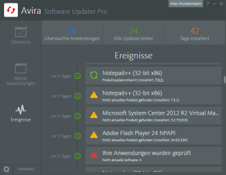 Avira_Software Updater Pro__Ereignisse