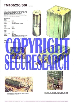 Security Poster: TM-100/200/500 Demolition Charges