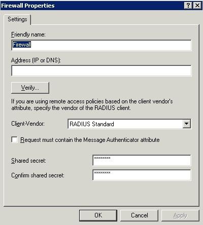 Create a new RADIUS client