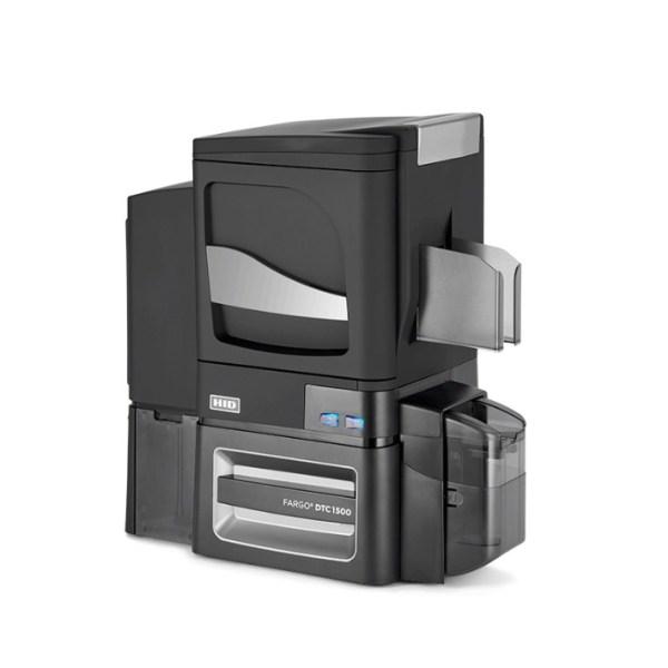fargo DTC1500 ID Card Printer & Encoder side