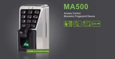 DURABLE ZKTECO MA500 BIOMETRIC ACCESS CONTROL TERMINAL