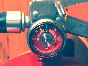 Image illustrant un manomètre d'extincteur.