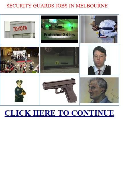 Security Equipment Jobs Melbourne