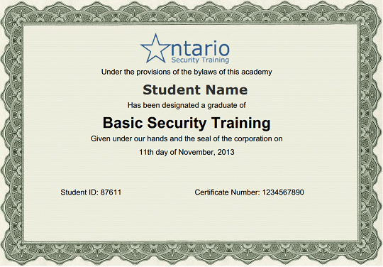 Private Security Certification