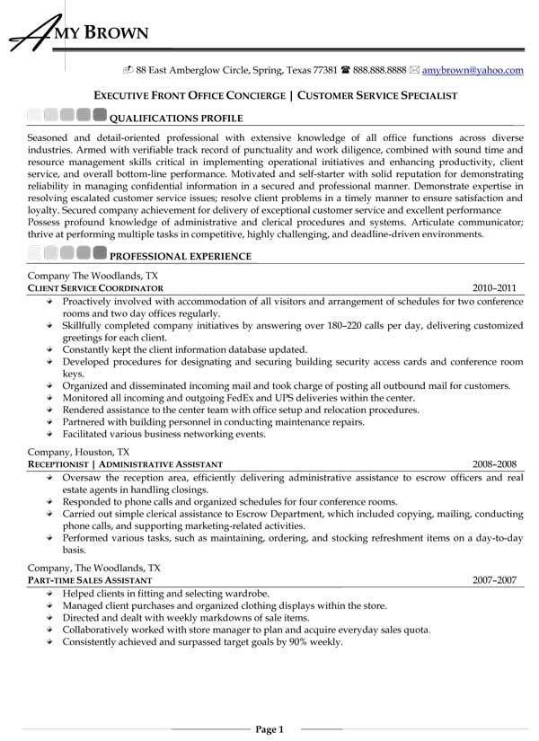 Sample Resume For Housekeeping Job In Hotel. 12 Easy Concierge