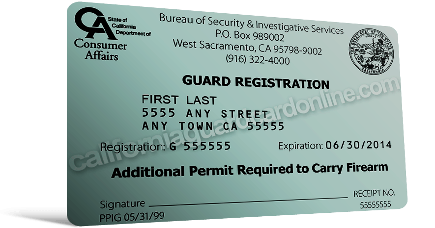 Guard Card License
