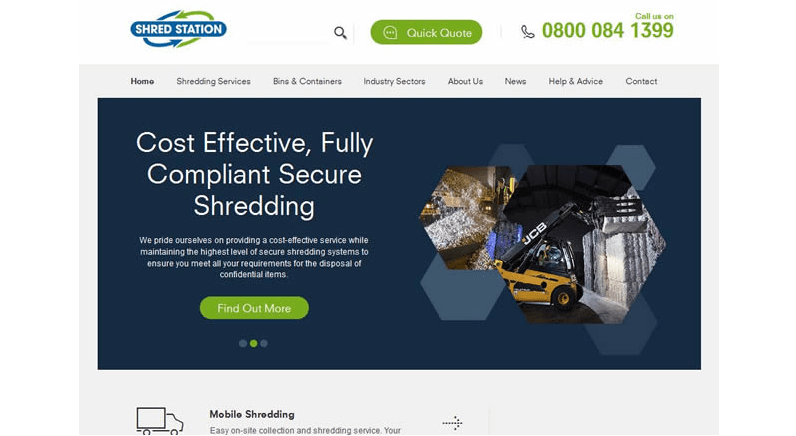 Shred Station launches new website