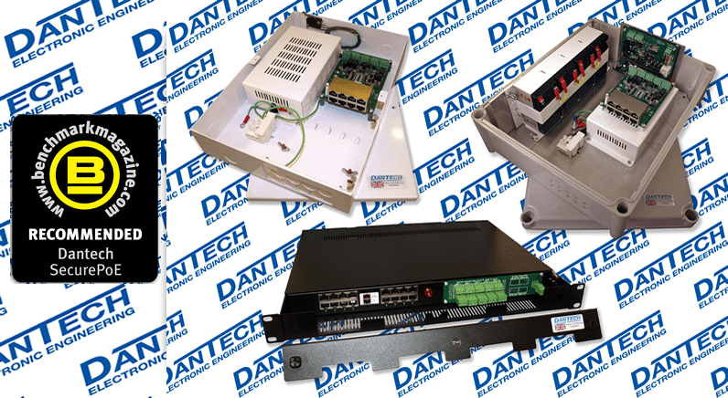 Dantech's SecurePoE range 'Recommended' by Benchmark magazine
