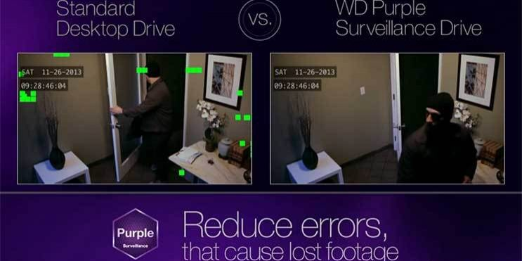 Western Digital Purple drive for surveillance applications reduces errors and lost footage