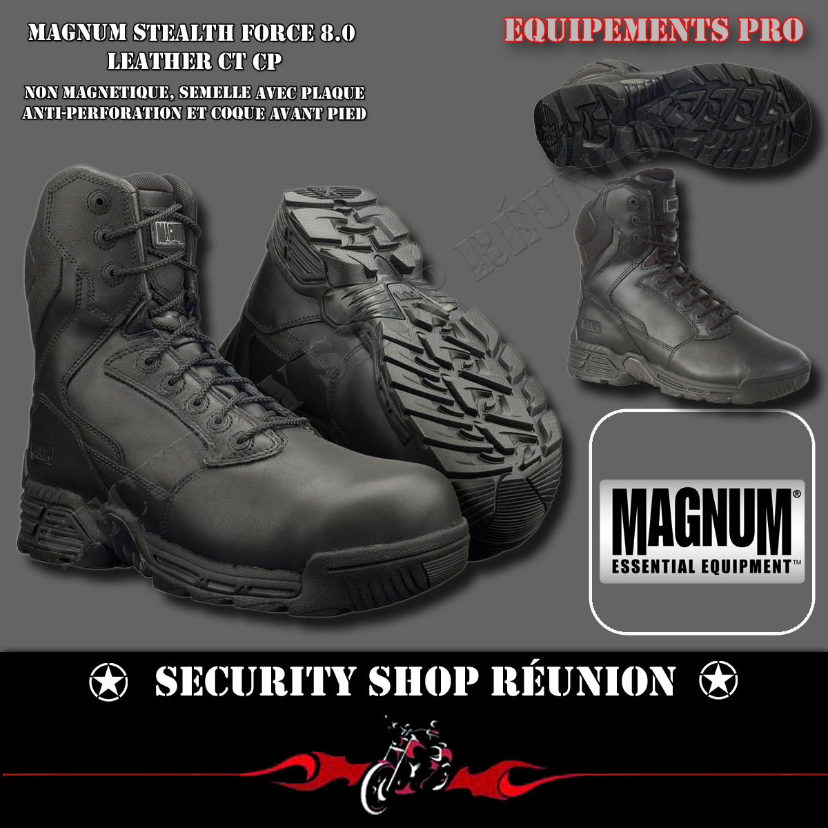 chaussures magnum sable,MAGNUM STEALTH FORCE 8.0 LEATHER CT CP