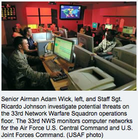 Air Force Central Command Cyber Threats