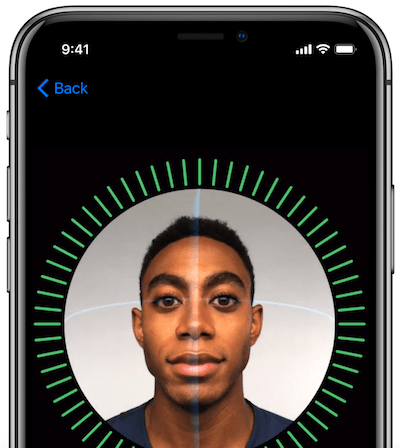FaceID on iPhoneX