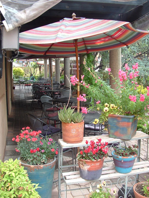 Image result for flowers in secret garden cafe in Sedona