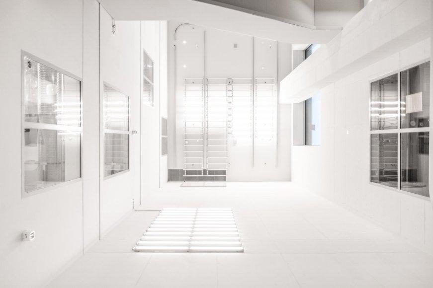 A White Concrete Apartment Building