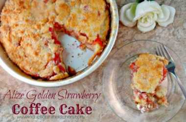 Alize Golden Strawberry Coffee Cake