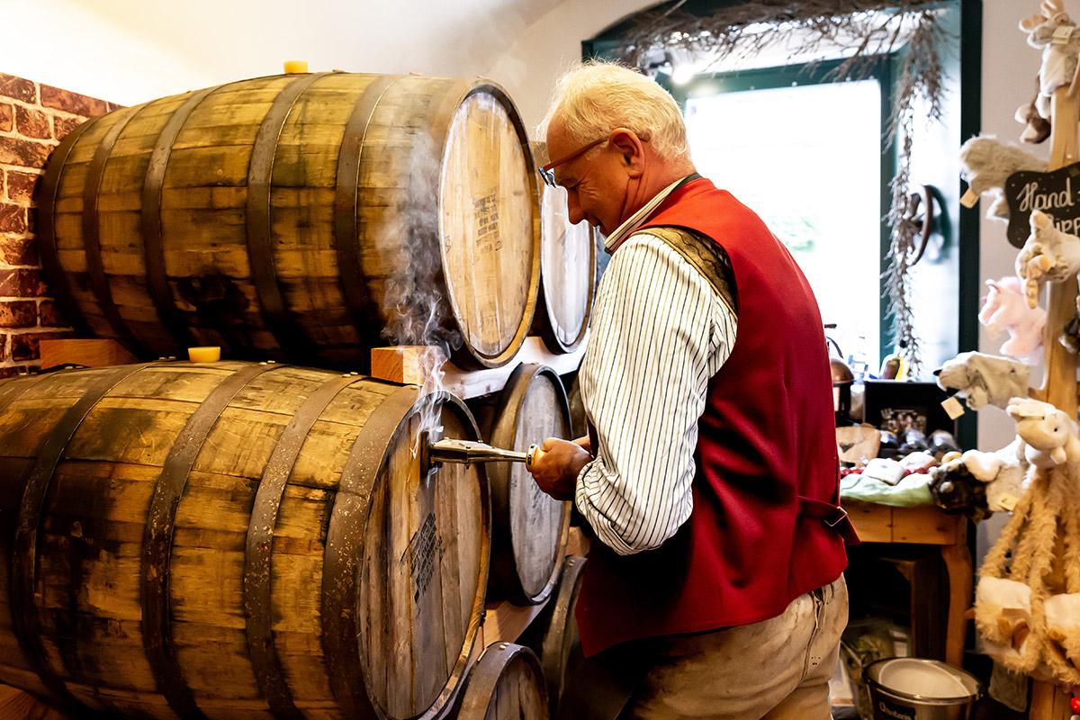 Produktion Whisky brennen