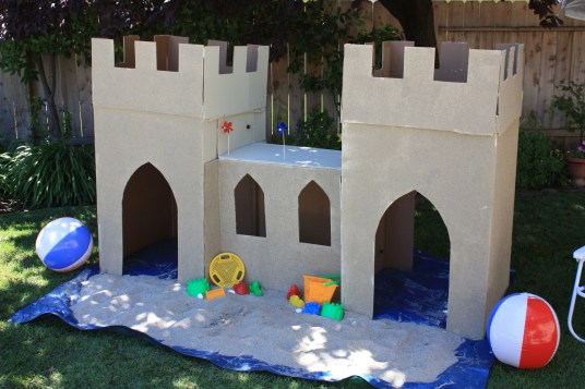 Life size sandcastle - Backyard Beach Party