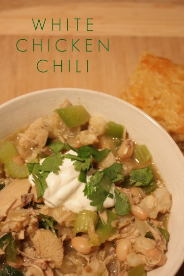 Vertical White Chicken Chili
