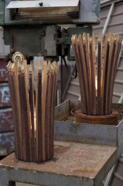 Wine Barrel Stave Lamp - Landscape lighting