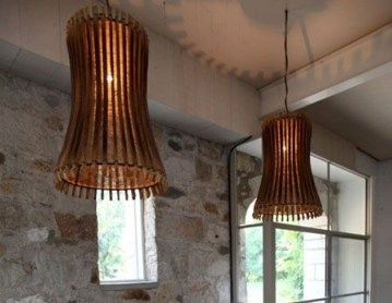 Wine Barrel Stave Pendant Lamp
