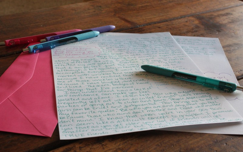 Letter Writing for Project To Love Ourselves