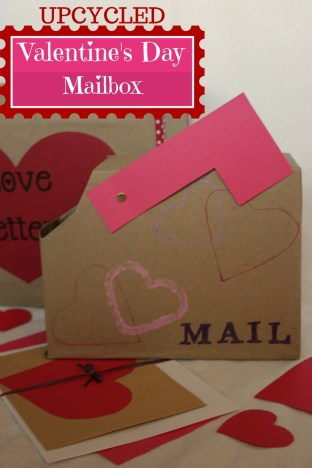 Upcycled Valentine's Day Mailbox Pinterest