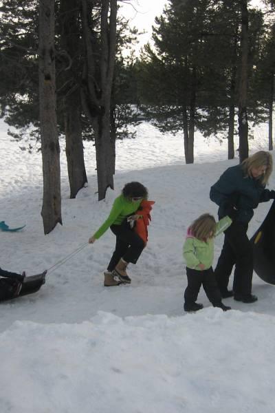 Snow Play Near California's Central Valley