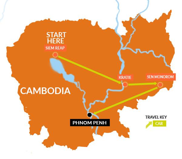 Cambodia elephant trekking holidays