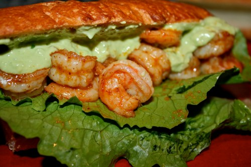 Spicy Shrimp Sandwich and Avocado Chipotle Mayo
