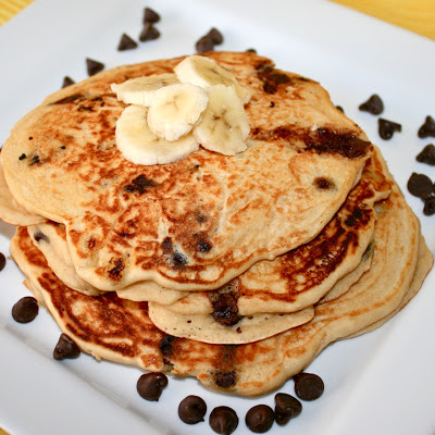 Light and Fluffy, Buttermilkey, Chocolate Chipey Pancakes